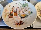 VINTAGE SARREQUEMINES MADE IN FRANCE HAND COLORED  DECORATED FRENCH SCENE PLATES