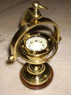 Antique Reproduction Brass Nautical Ship's Gimballed Compass Vintage Marine