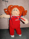 VINTAGE 1982 CABBAGE PATCH DOLL RED HAIR GREEN EYES w CLOTHES