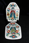 """Vintage Figgjo Flint Hand-painted """"Saga"""" Wall Plaques Made in Norway"""