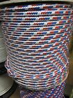 3 8 X 100 Halyard sail lineanchor line polyester double braid Red White Blue