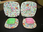 2 VINTAGE ARDALT SQUARE TEA CUP, SAUCER AND DESSERT PLATE  FROM OCCUPIED JAPAN