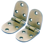 Maritime Nautical Marine Solid Brass Bronze Color Hinges Set of 2