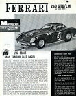 1964 Monogram Ferrari 250 GTO/LM Instruction Sheet