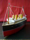 Rare 1920's BING Tin Wind-up 4 Funnel Steam Oceanliner Passenger Ship
