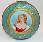 Antique French Sevres Limoges Signed Porcelain Hinged Jewelry Trinket Box 1756-7