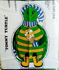 Vintage Tommy Turtle Green Cut & Sew Pillow Fabric Panel Uncut 70's