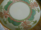 Antique Hand Painted Haviland France Art Deco Nouveau Plate Gold Trim Pink Green