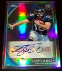 2010 20 50 TIM TEBOW TOPPS CHROME AUTO RC REFRACTOR AWESOME ROOKIE AUTOGRAPH