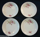 4 Victoria Austria Porcelain saucers, purple floral antique china