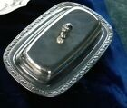 Vintage Oneida Silversmiths Silver Plated Butter Dish ~ Floral Pattern Very Nice