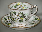ROYAL ALBERT - White Dogwood - CUP & SAUCER SET - B1E