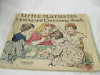 Vintage 1927 Little Playmates Painting & Crayoning Book M.A. Donohue Chicago