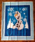 A DISNEY'S FROZEN OLAF SNOWMAN COTTON FABRIC PANEL / WALLHANGING