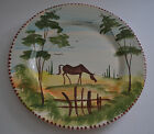 LAMAS ITALY HAND PAINTED DINNER PLATE -RED WARE