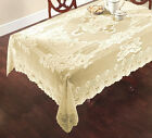 NEW Sharon Jacquard Lace Tablecloth -  Ivory Cream