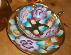 Vintage Occupied Japan Gold Gilt Water Lilly Tea Cup and Saucer