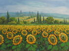 Valady Sunflower Field Original Hand Painted 24