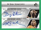 GARY PAYTON + KOBE BRYANT ON CARD AUTOGRAPH 2003-04 SP Authentic AUTO Lakers