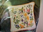 2 Creative Crewel Wildflower Pillow KITS 7103 Vintage 1972 Erica Wilson UNOPENED