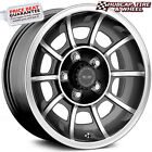 AMERICAN RACING VN47 VECTOR BLACK MACHINED 15X85 WHEELS RIMS set of 4 NEW