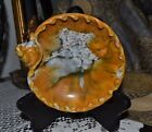 Vintage Trinket Bowl, Hand Made In Italy, Marble Tone W/Shell and Raised Accents