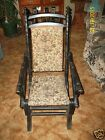 ANTIQUE VICTORIAN REVIVAL PLATFORM SPINDLE MAPLE ROCKING CHAIR