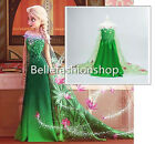New Frozen Queen Elsa & Princess Anna Costume Cosplay Party Dress Up USA SELLER