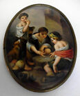 Antique KPM Style Handpainted Porcelain Plaque/Portrait Paintings/Art MURILLO
