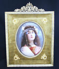German Porcelain Plaque with original frame-signed-depicting