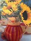 Southern Living At Home Gail Pittman Fall Siena Pitcher Hand painted SLAH New