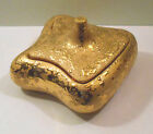 Elegant vtg Le Miena 22kt GOLD PAINT Finish Candy box Dish w Lid