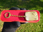 EXC VINTAGE REUGE MUSICAL KEY CHAIN MUSIC BOX + ORIGINAL CASE ( WATCH THE VIDEO)