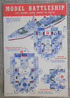 VINTAGE U.S. BATTLESHIP PAPER CUT OUT BY NEWMAN-RUDOLPH LITHO CHICAGO UNPUNCHED