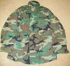 ~GENUINE US ARMY WOODLAND CAMO M65 MED LONG FIELD JACKET COAT COLD WEATHER+PATCH