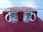 Debbie Mumm Sakura  Oneida  4  Mugs   Snow Angel Village  - New in Box