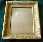 Antique Ornate Victorian Gold Gesso & Wood Frame w/ glass ~ 13 7/8