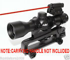 rifle CARRYING HANDLE 4x32 scope mil dot reticle with red laser kit