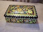 Vintage Decorative Floral Tin Trinket Jewlry Box- Made in Holland