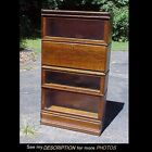 Great Globe Wernicke Oak 4 Section Stacking / Barrister Bookcase / Desk