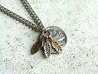 BUFFALO BISON INDIAN NICKEL COIN JEWELRY NECKLACE GOLD SILVER COPPER FEATHER