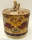 Excellent Hand Painted Antique Meiji Satsuma Covered Jar 1868-1912