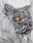 Cat beadpoint DIY kit Seed Beads Needlepoint Tapestry Embroidery LARGE SIZE