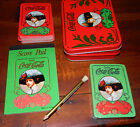 Coca Cola Red Green Gibson Girl Playing Cards 2 Decks Tin & Pencil & Score Pad
