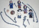 Lego Lot Figures - Norrington,  Jack Sparrow, Barbossa PIRATES of the CARIBBEAN