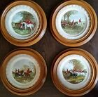 The Famous Herring Hunting Scene Vintage Plates; WELL CLEARED,REFUSAL,THE MEET,