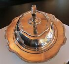 L.B.S. CO.,  Sheffield Silverplate Holoplate Serving dish w/cover 1900-1940