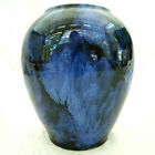 BLUE ONYX DRIP VASE • EARLY 1900 BRUSH MCCOY • Vintage Pottery EXCELLENT!