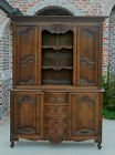 Antique French Country Oak VAISSELIER Cupboard Cabinet Buffet Hutch Bookcase