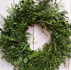 LARGE Summer Fall Wreath Floral Country EUCALYPTUS BOUQUET DOOR WREATH DECOR